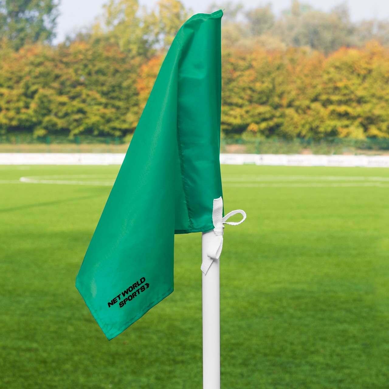 Green Spring Loaded Football Corner Flags [6 Pack]