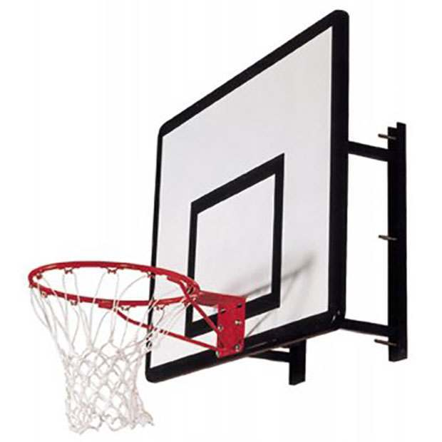 Heavy-Duty Basketball Backboard, Hoop & Wall Mount