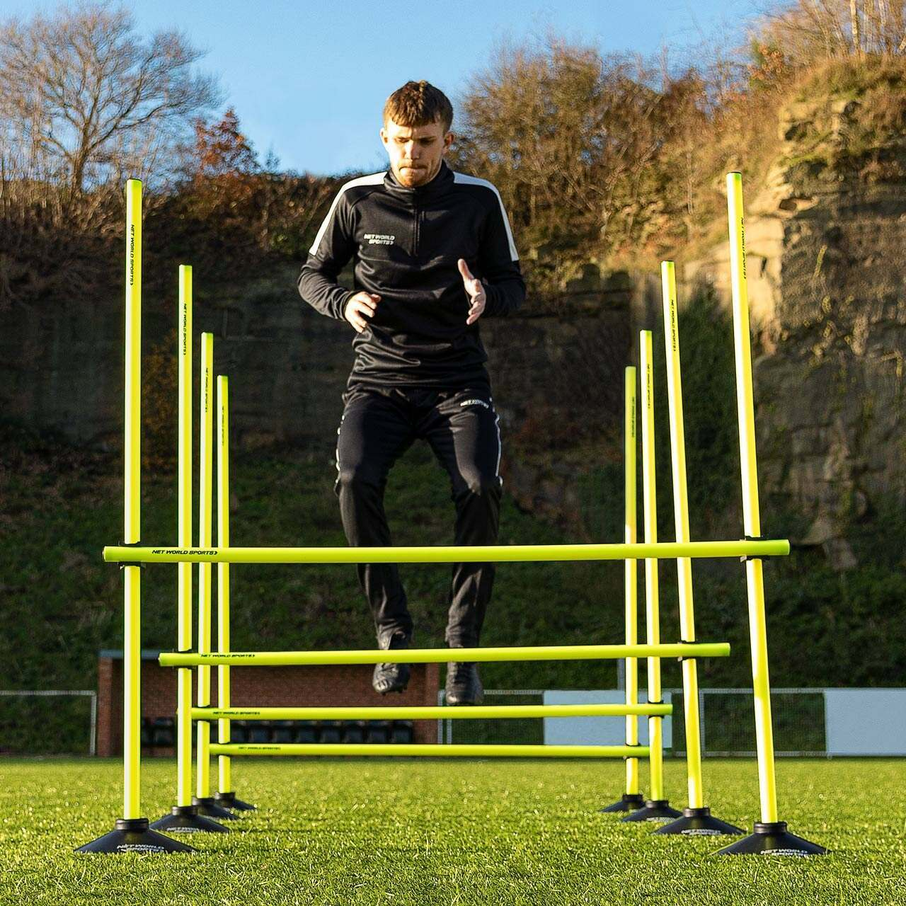 4ft (1.2m) Adjustable Training Hurdles [Rubber Bases]