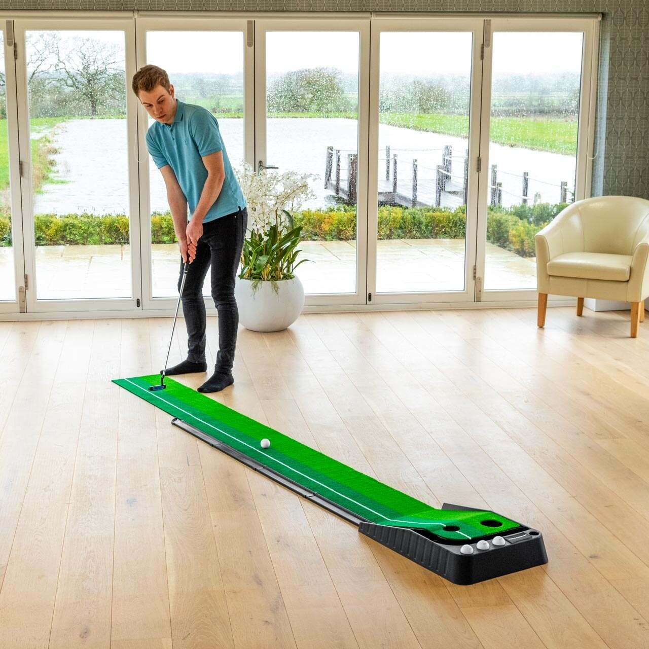FORB Dual-Speed Putting Mat Trainer