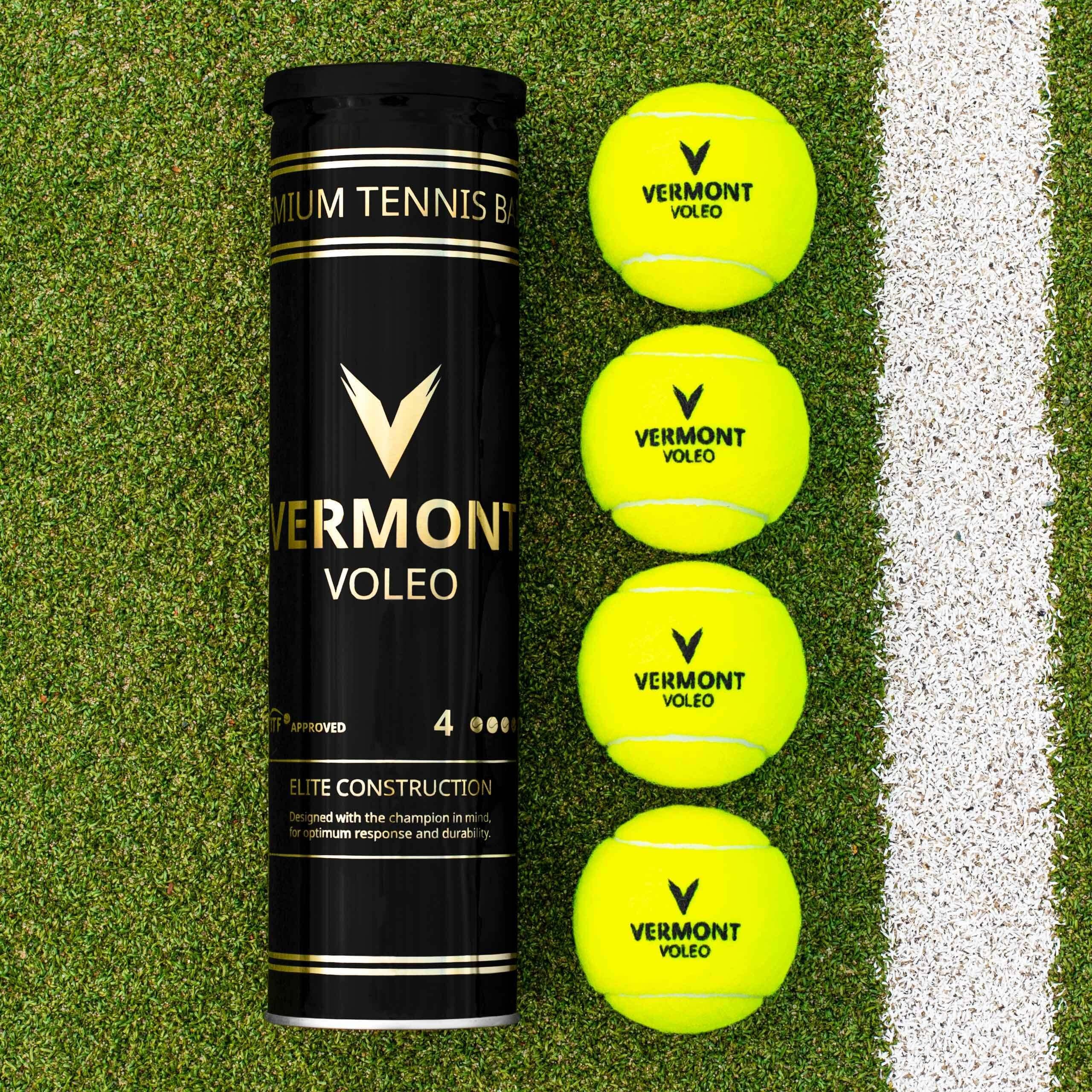 Vermont Voleo Balles de Tennis [Tube de 4 Balles]