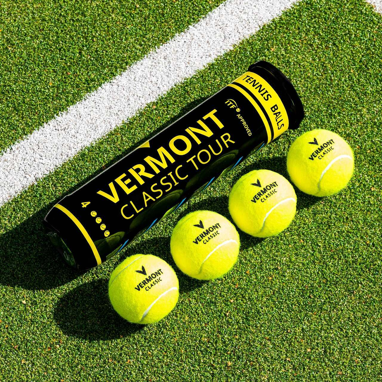 Vermont Classic Tour Tennis Balls [4 Ball Cans]
