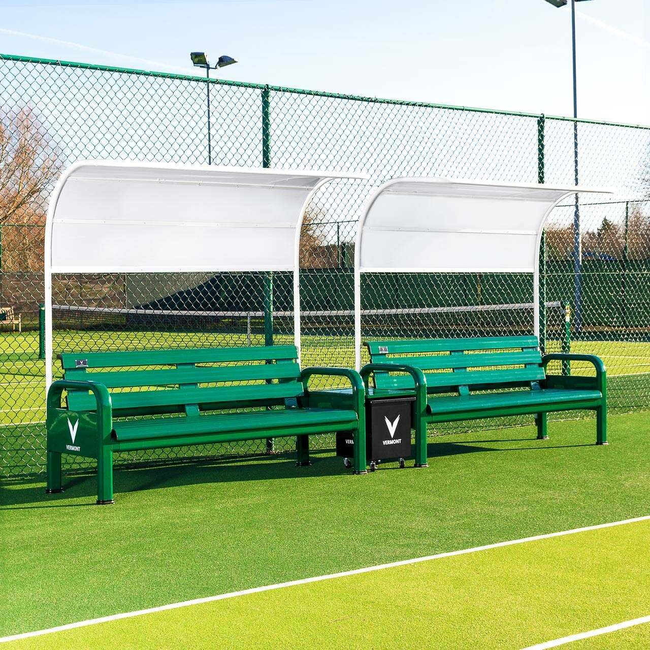 Vermont Aluminium Tennis Court Bench Set