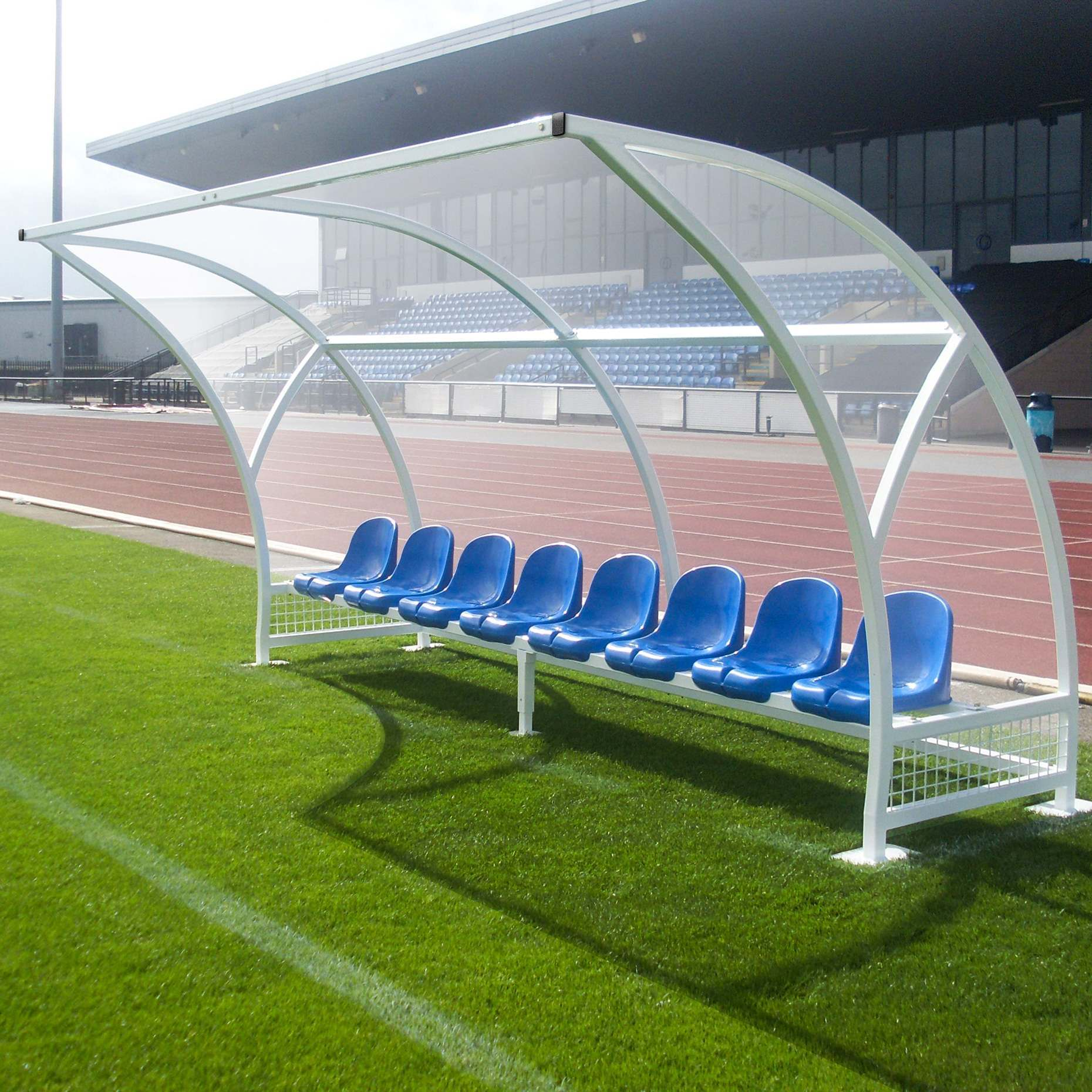 Professional Milan Football Team Shelter Complete With Seats [4 Colours]