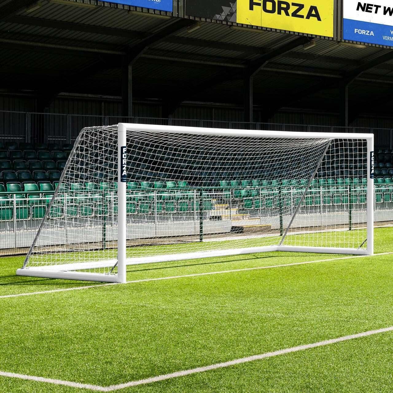 21 x 7 FORZA Alu110 Freestanding Football Goal
