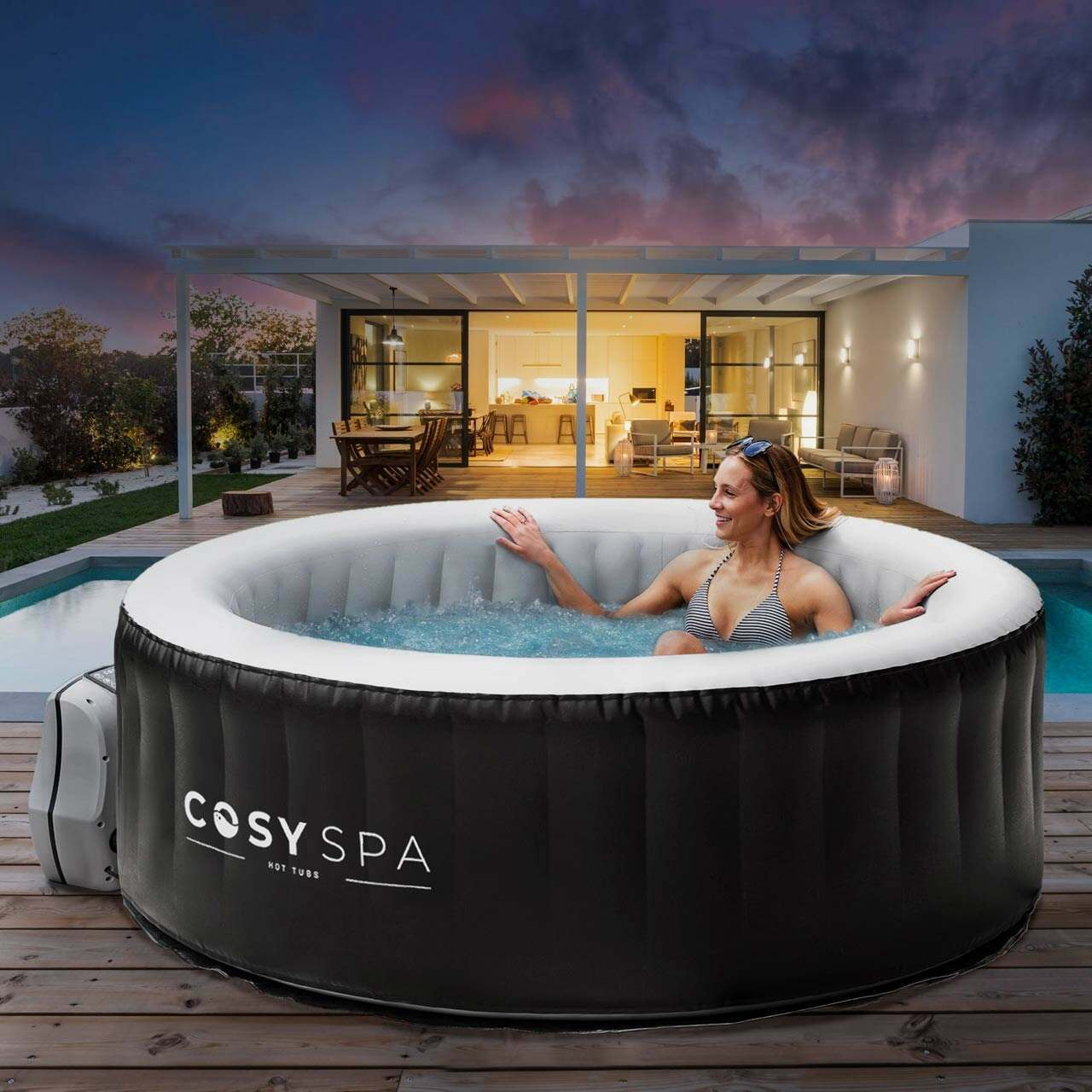 CosySpa Inflatable Hot Tubs [New Upgraded 2021 Model]