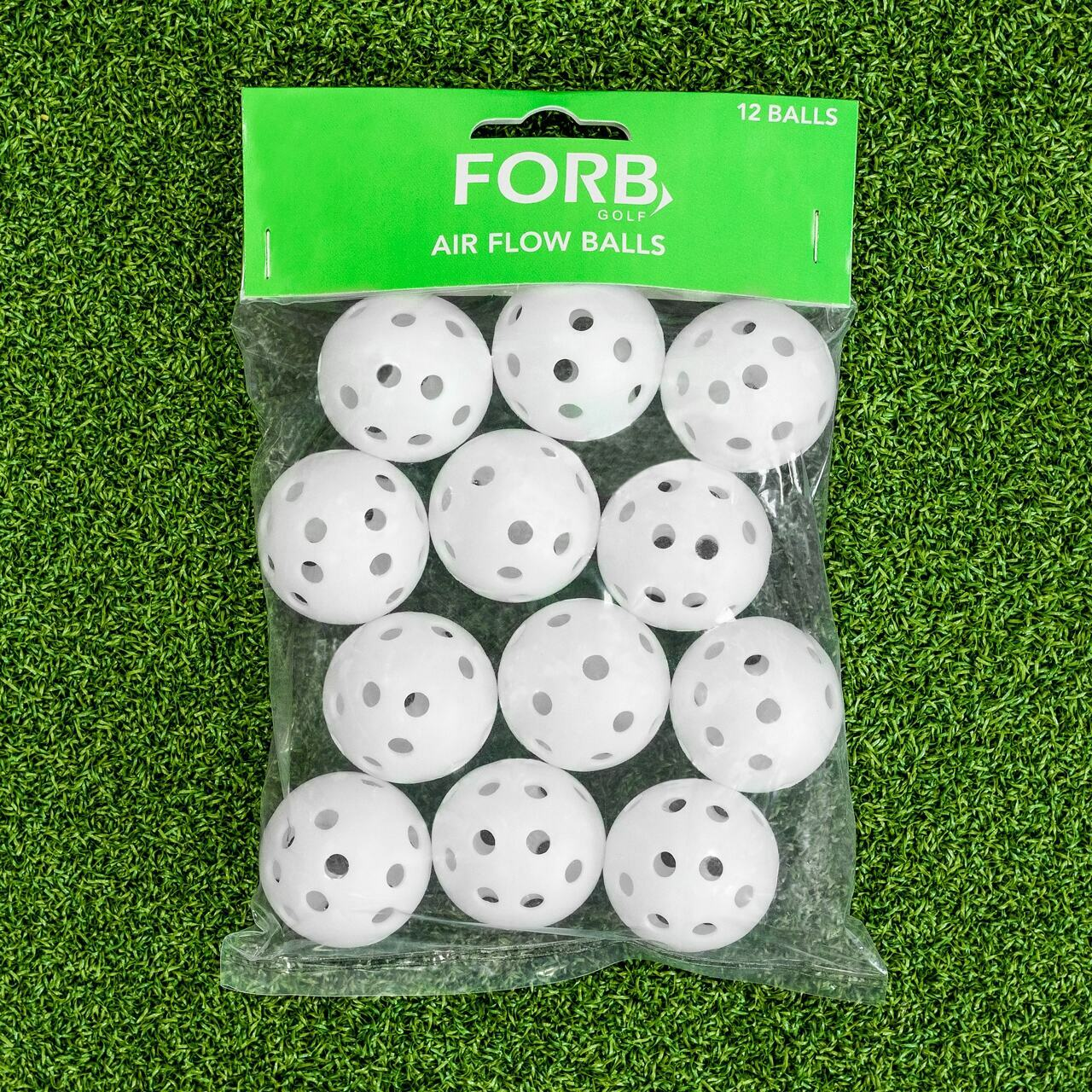 FORB Air Flow Plastic Golf Balls [12 Pack]