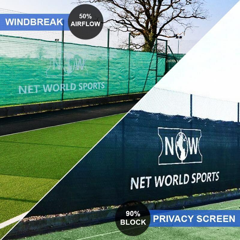 Tennisspielplatz Windblende & Sichtschutz