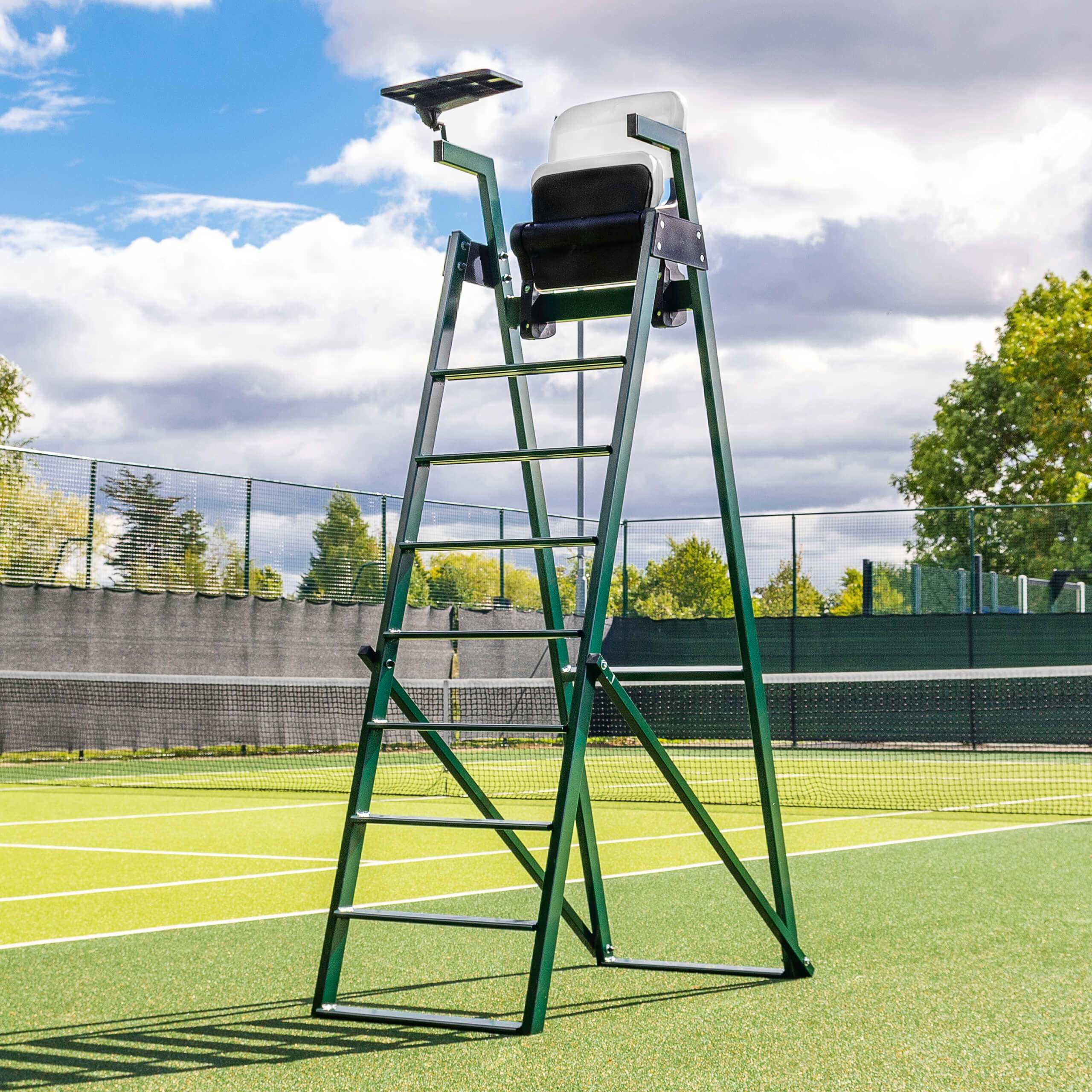 Silla de jueces de aluminio de Tenis [Modelo premium de 2,1m]