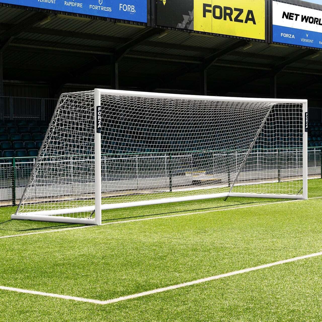 24 x 8 FORZA Alu110 Freestanding Football Goal