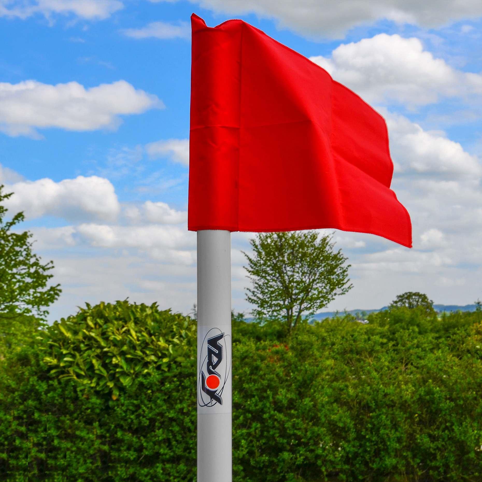UEFA Pro Corner Pole & Flags with Ground Sleeve (Set of 4)