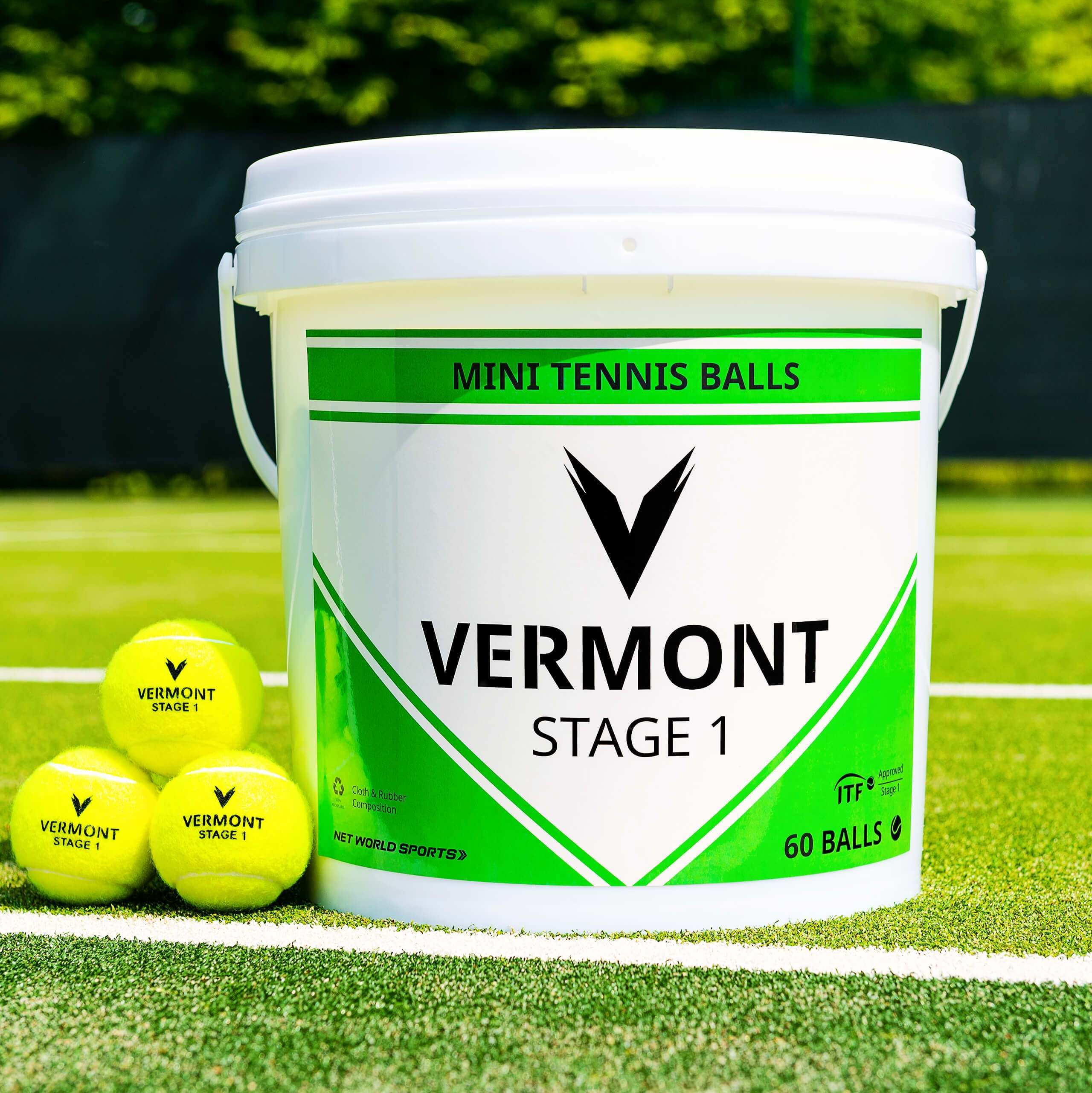 Vermont Mini Green Tennis Balls [Stage 1] (60 Balls)