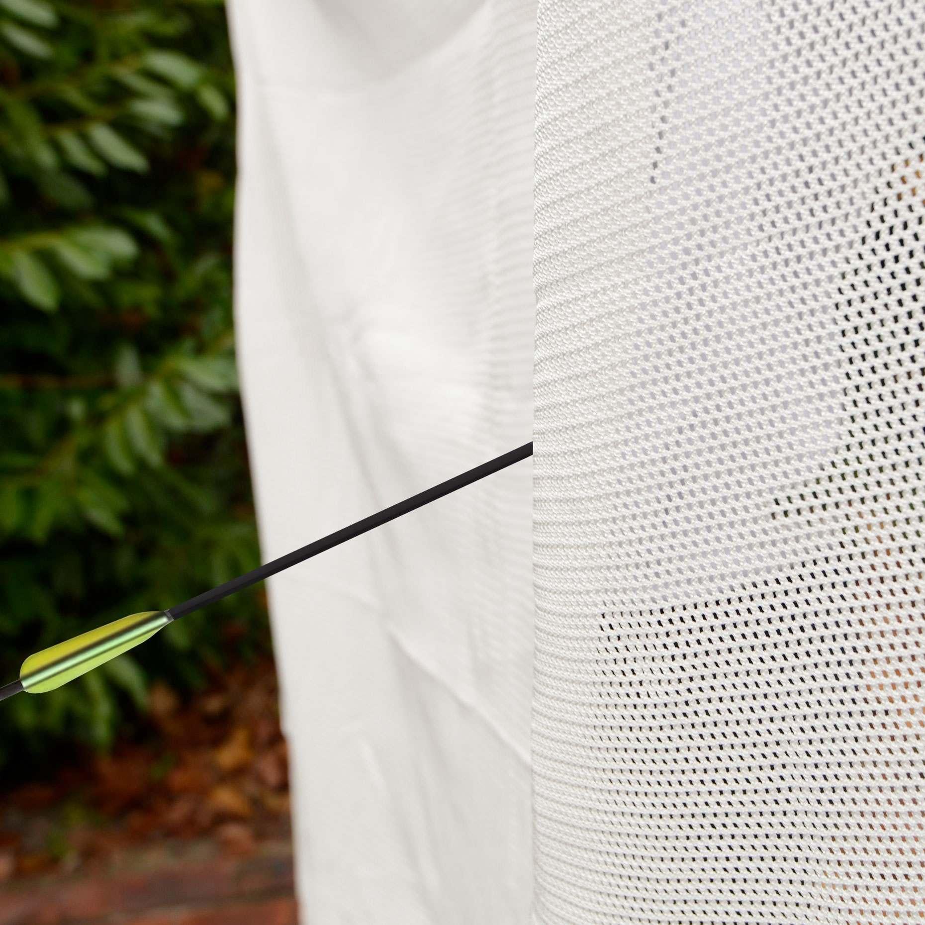 White Backstop Archery Net 6ft X 6ft Net World Sports