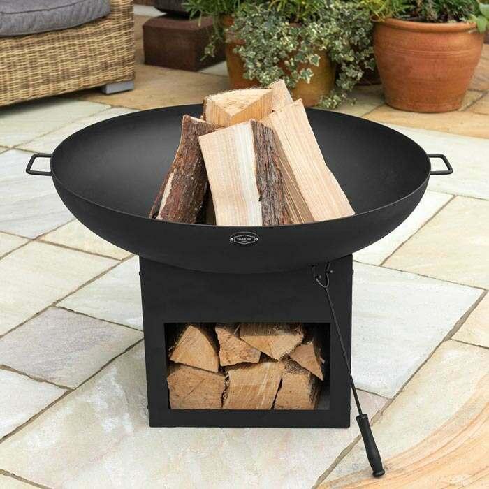 modern garden fire pit