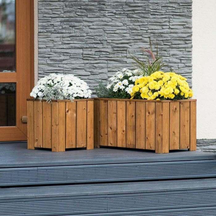 flower pots | wooden planters