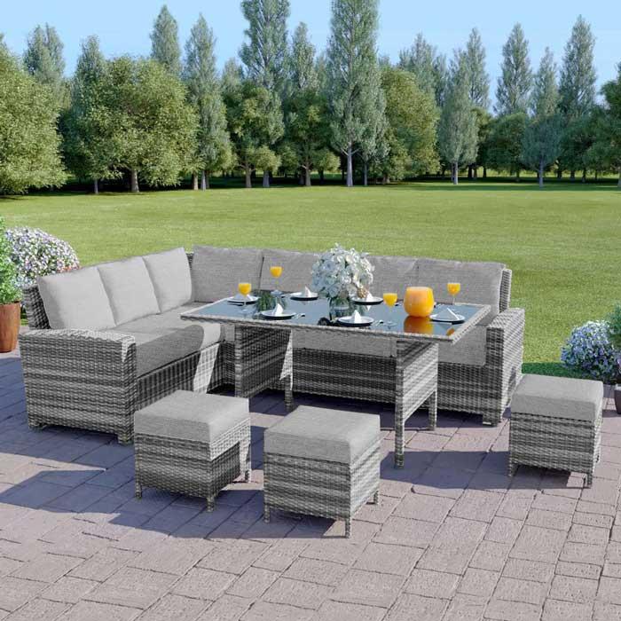 9 Seater Rattan Furniture Set | Rattan Garden Tables & Chairs