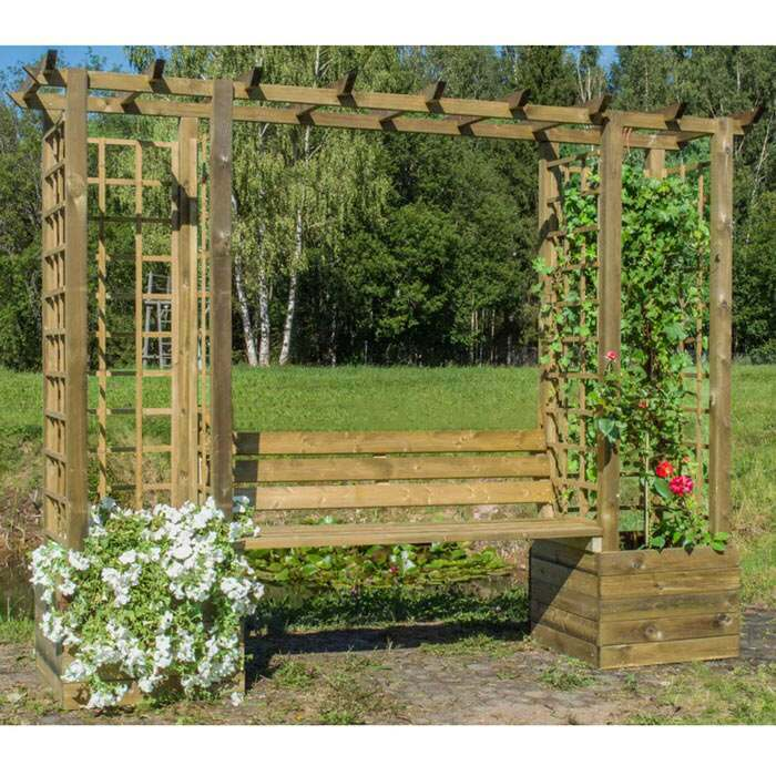 small pergola bench | large arbour benches