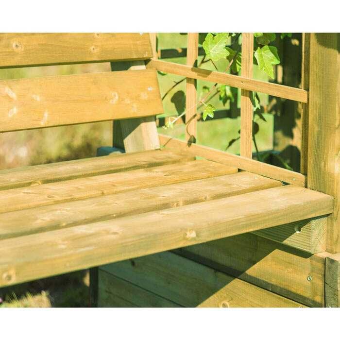 heavy-duty wooden bench