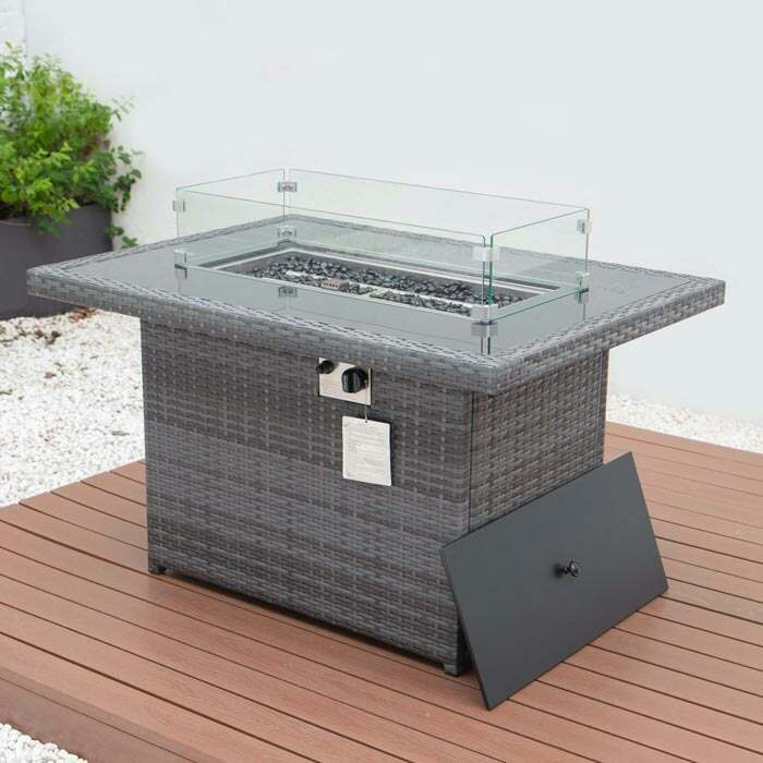 garden sofa | fire pit table