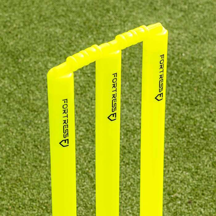 Fluro Yellow Cricket Stumps & Bails | Cricket Training Equipment