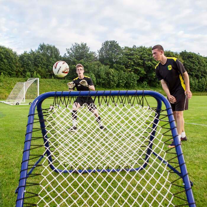 Double sided football rebounder
