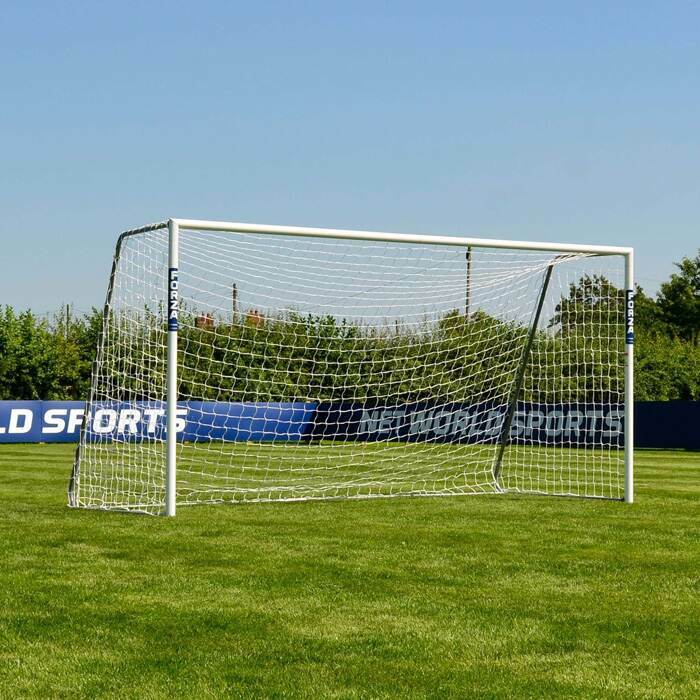 3.7m x 1.8m FORZA Alu60 Football Goals | Regulation Size Mini-Soccer Football Goal
