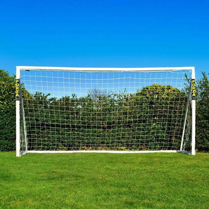 3,7m x 1,8m FORZA But de Football avec Système de Verrouillage | Cages de Foot de Mini-Soccer
