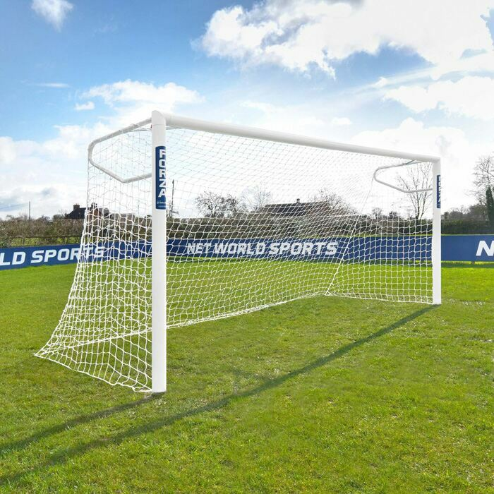 5m x 2m Football Goals | Regulation Size Junior 9 A Side Football Goal