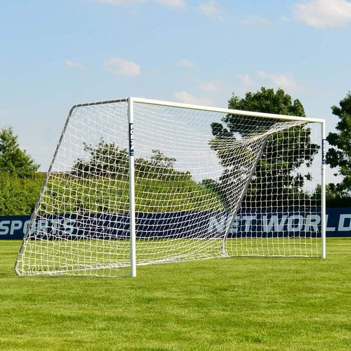 5m x 2m FORZA Alu60 Soccer Goals | Full Size 9 A Side Soccer Goal