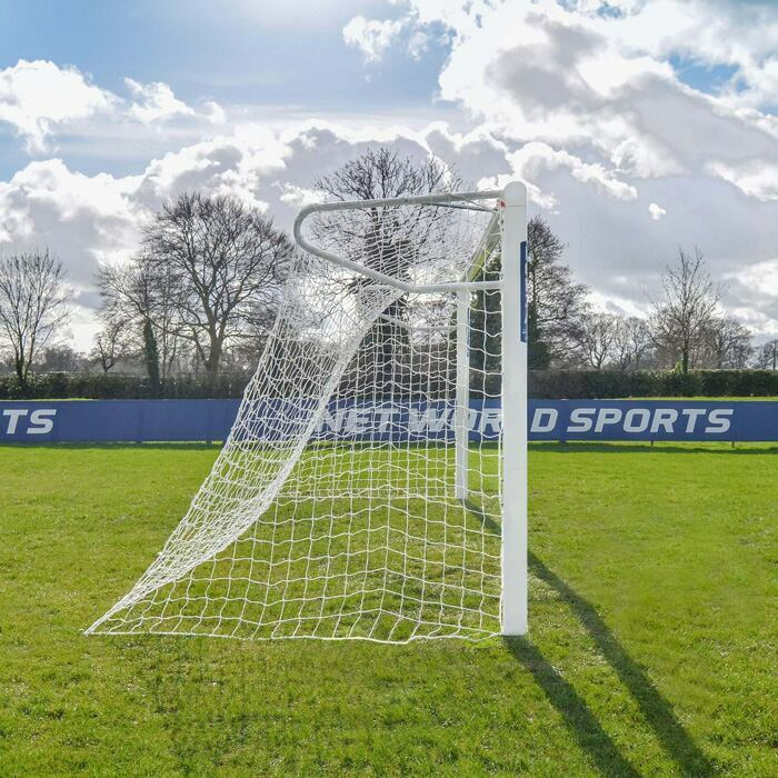 18.5ft x 6.5ft Socketed Football Goals | 110mm Aluminium Football Goal