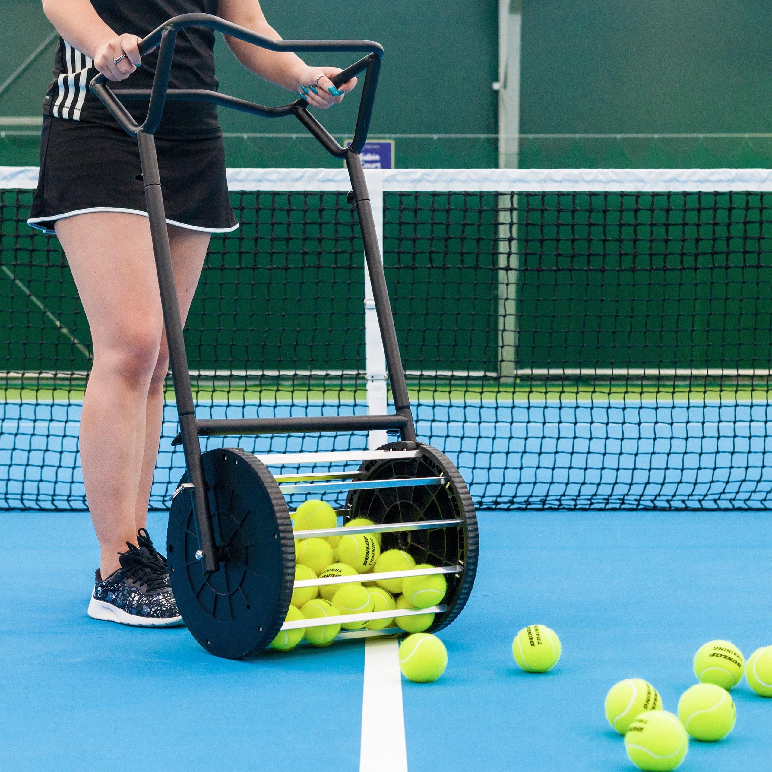 Tennis Ball Roller Mower In Action
