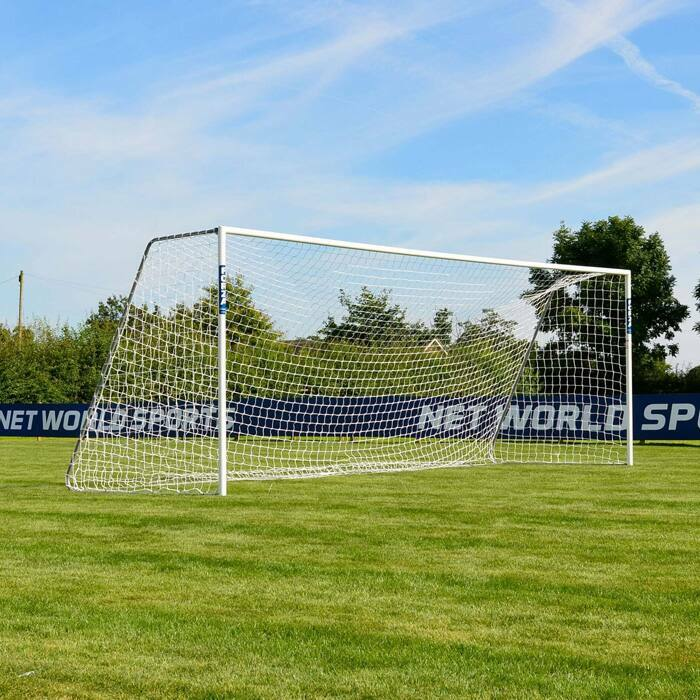 6.4m x 2.1m FORZA Alu60 Football Goals | 11-A-Side Football Goal