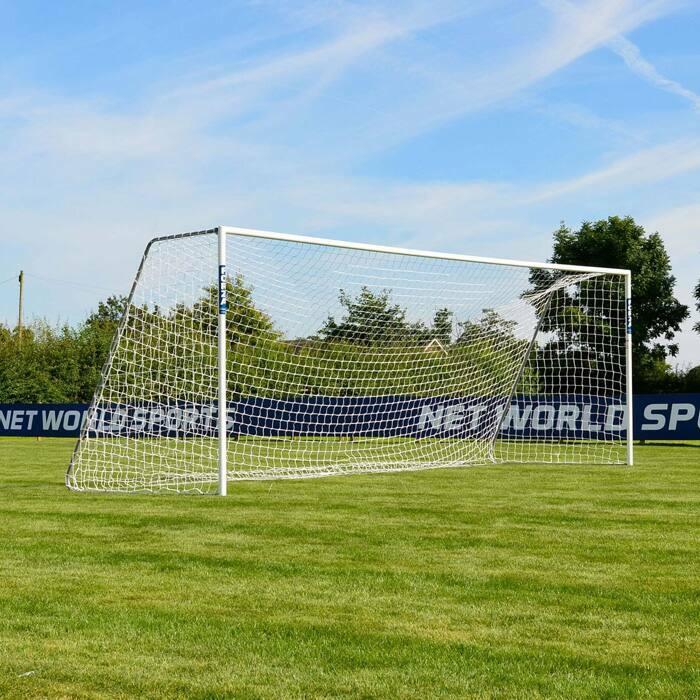 6.4m x 2.1m FORZA Alu60 Soccer Goals | 11-A-Side Soccer Goal