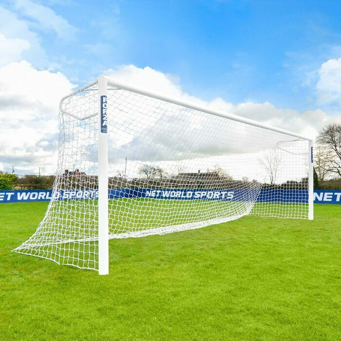 7.3m x 2.4m Football Goals | Regulation Full Size 11 A Side Football Goal