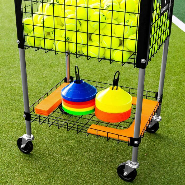 Tennisballen Coaching Trolley Met Opbergvak