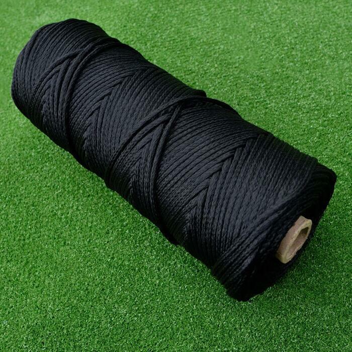 Cuerda negra ultra duradera para reparar redes