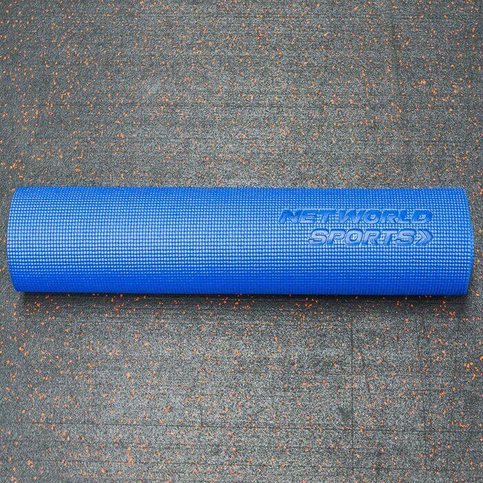 Waffletextur blaue rutschfeste PVC Yogamatte