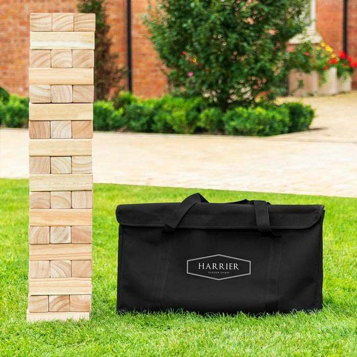 Harrier Portable Outdoor Jenga Set | Backyard Games For The Family