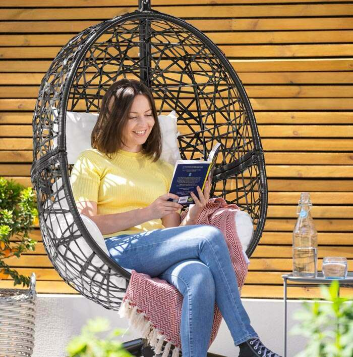 Harrier Hanging Egg Chairs | Deluxe Garden Furniture
