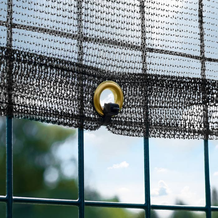 Easy-Hang Tennis Court Windbreaks | Reinforced Hemmed Edges With Brass Eyelets