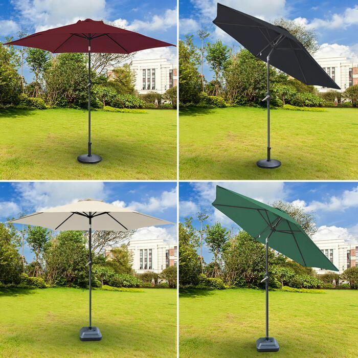 Luxuriöse Sonnenschirme mit Handkurbel | Gartenschirme mit verstellbarem Schirm