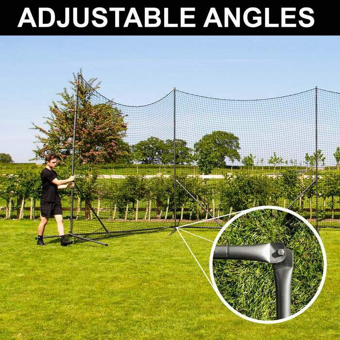 Premium Ball Stop Net System | Adjustable Angle Design