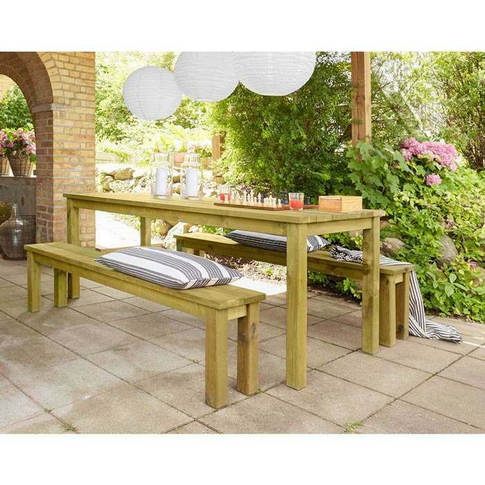 Wooden Garden Bench | Outdoor Dining Table