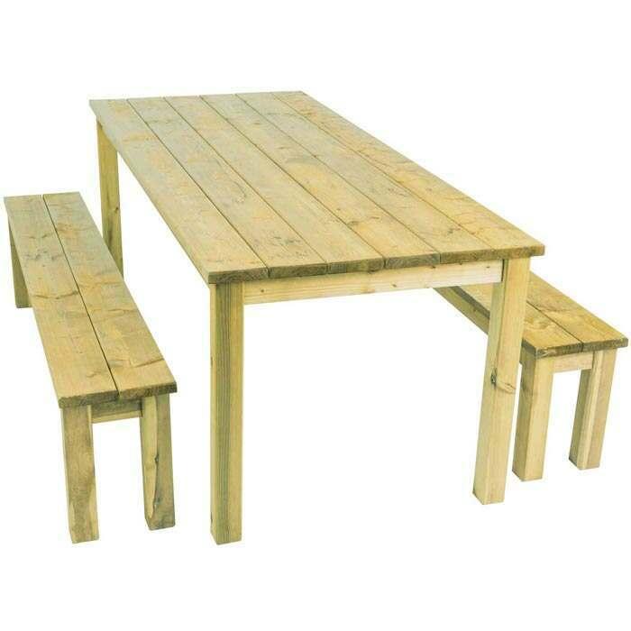 Garden Dining Set 6 Seater | Wooden Garden Table