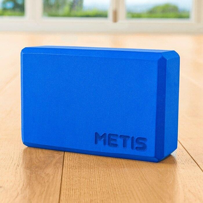 blue yoga block