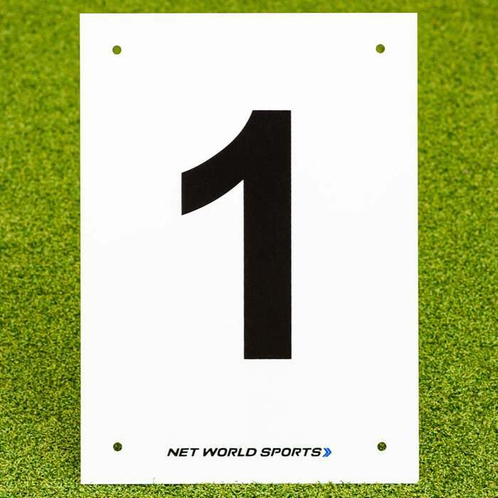 A4 Number Plates for tennis courts & sports pitches