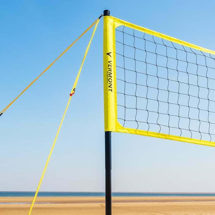 FIVB-genehmigtes Beach Volleyballnetz | Teleskopische Volleyballpfosten