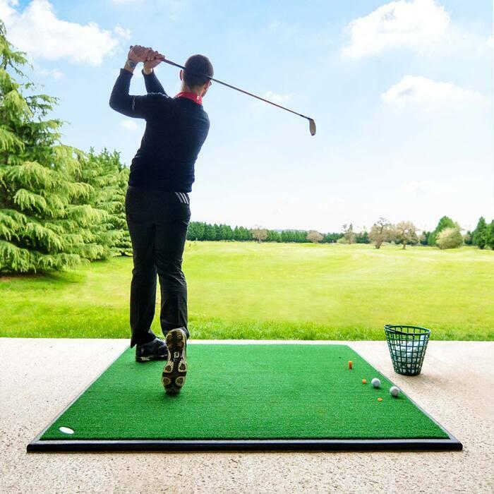 FORB Golf Driving Range Übungsmatte - Hochwertiger Rasen fühlt sich wie das Rasen