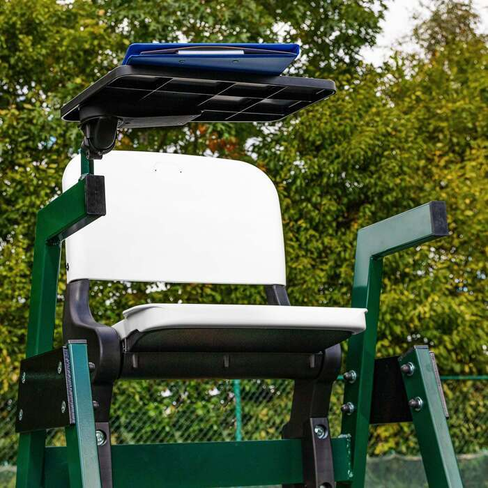 Professional Tennis Umpires Chair With Tip-Up HDPE Seat & Tray