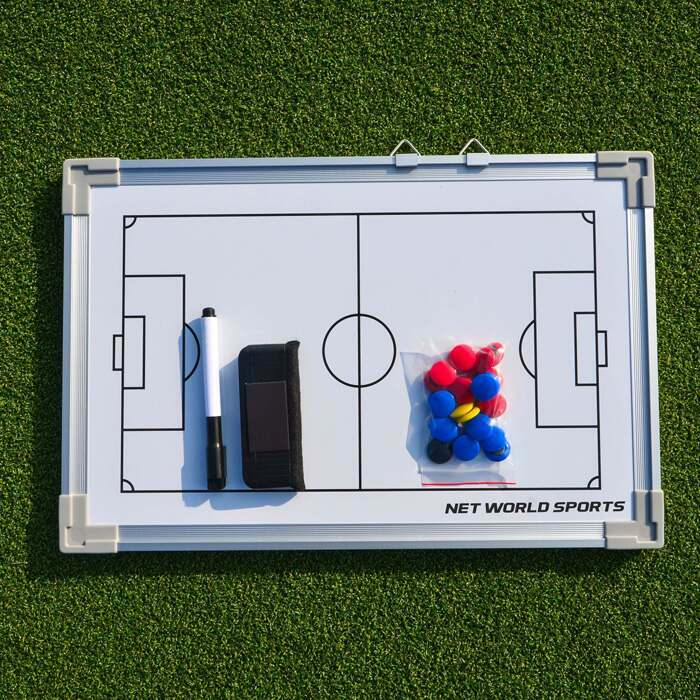 White wipe clean soccer tactics board
